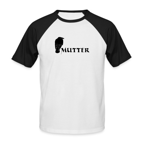 rabenmutter rabe mutter mama mami eltern gothic T-Shirts - Männer Baseball-T-Shirt