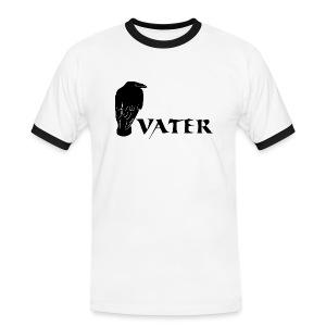 rabenvater rabe vati papa papi eltern gothic T-Shirts - Männer Kontrast-T-Shirt