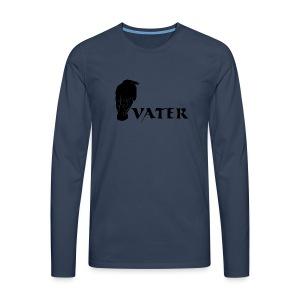 rabenvater rabe vati papa papi eltern gothic T-Shirts - Männer Premium Langarmshirt