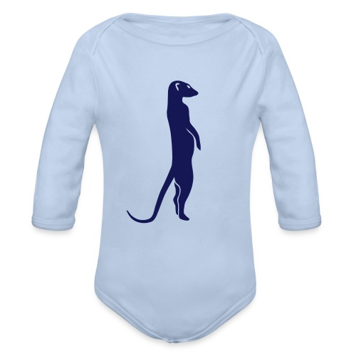 erdmännchen meerkat mond moon afrika niedlich cute T-Shirts - Baby Bio-Langarm-Body