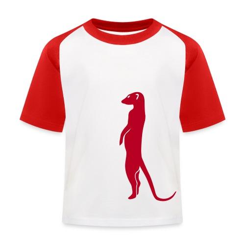 erdmännchen meerkat mond moon afrika niedlich cute T-Shirts - Kinder Baseball T-Shirt