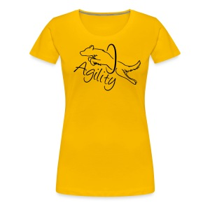 Agility dog with hoop - Frauen Premium T-Shirt