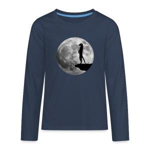 erdmännchen meerkat mond moon afrika niedlich cute T-Shirts - Teenager Premium Langarmshirt