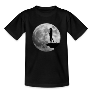 erdmännchen meerkat mond moon afrika niedlich cute T-Shirts - Kinder T-Shirt