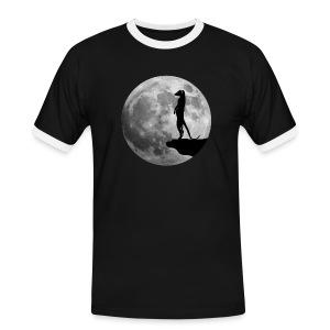 erdmännchen meerkat mond moon afrika niedlich cute T-Shirts - Männer Kontrast-T-Shirt