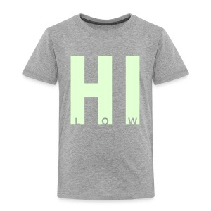 HI-low (glow in the dark) - Kinderen Premium T-shirt