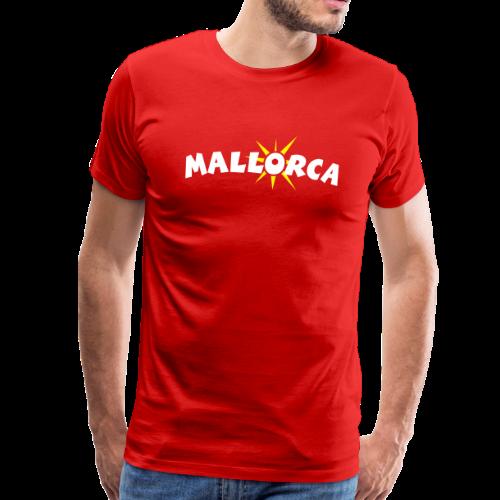 Mallorca Sonne T-Shirt (Herren Rot) - Männer Premium T-Shirt