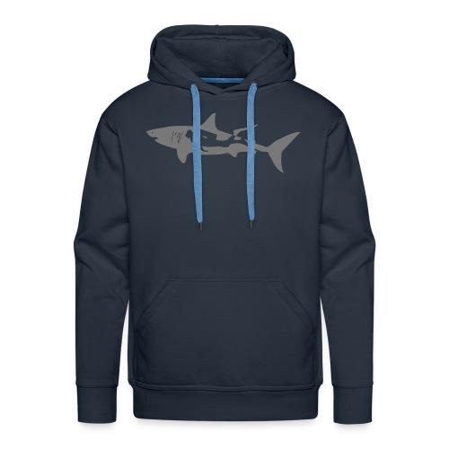 taucher hai tauchen scuba diving diver shark T-Shirts - Männer Premium Hoodie