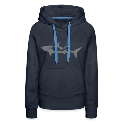 taucher hai tauchen scuba diving diver shark T-Shirts - Frauen Premium Hoodie