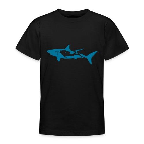 taucher hai tauchen scuba diving diver shark T-Shirts - Teenager T-Shirt