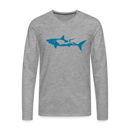 taucher hai tauchen scuba diving diver shark T-Shirts - Männer Premium Langarmshirt