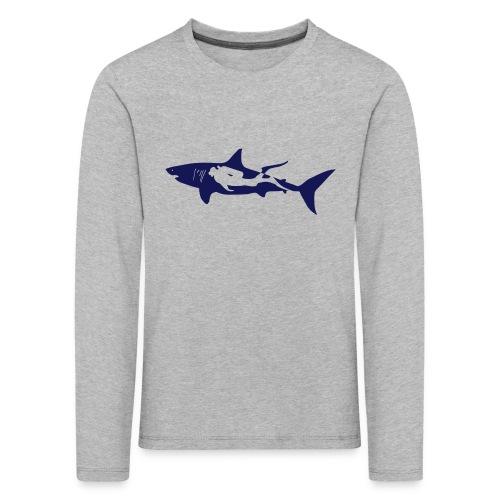 taucher hai tauchen scuba diving diver shark T-Shirts - Kinder Premium Langarmshirt