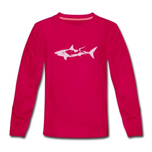 taucher hai tauchen scuba diving diver shark T-Shirts - Teenager Premium Langarmshirt