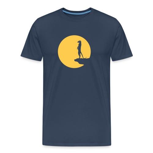 erdmännchen meerkat mond moon afrika niedlich cute T-Shirts - Männer Premium T-Shirt