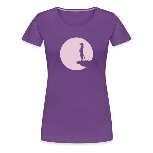 erdmännchen meerkat mond moon afrika niedlich cute T-Shirts - Frauen Premium T-Shirt