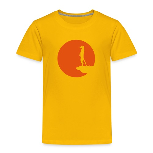 erdmännchen meerkat mond moon afrika niedlich cute T-Shirts - Kinder Premium T-Shirt