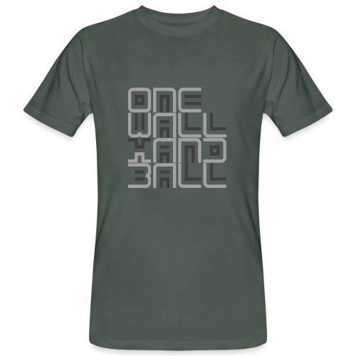 One Wall Handball Contra III - Mannen Bio-T-shirt