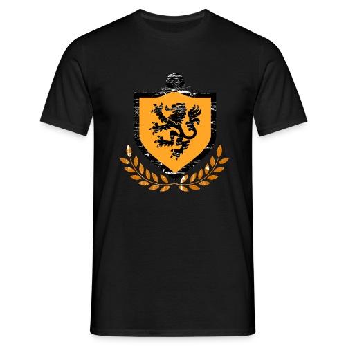 T-shirt met oude print wapen/leeuw - Mannen T-shirt