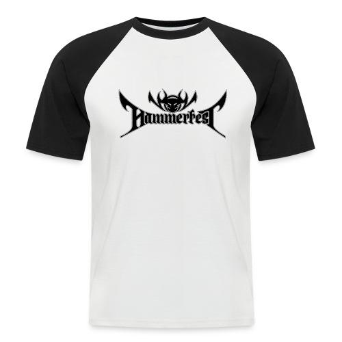 HammerMen Baseball Shirt B/W - Männer Baseball-T-Shirt