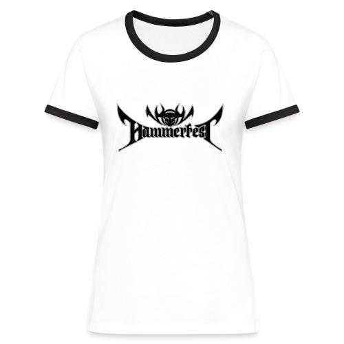 HammerGirlie Contrast Top B/W - Frauen Kontrast-T-Shirt