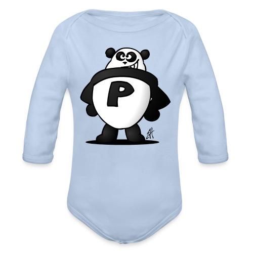 Panda Power - Organic Longsleeve Baby Bodysuit