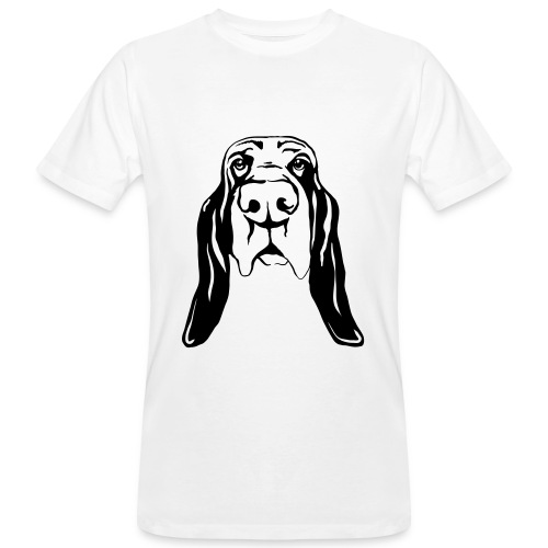 Bassetkopf - Männer Bio-T-Shirt