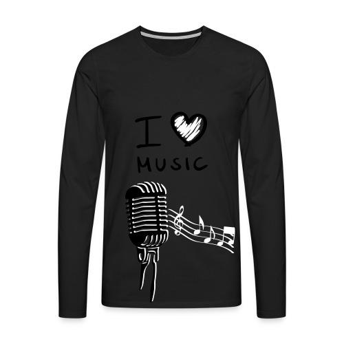I Love Music - Männer Premium Langarmshirt