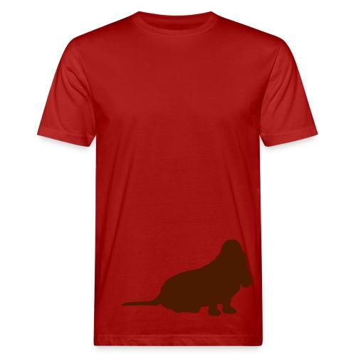 Basset sitzend - Männer Bio-T-Shirt