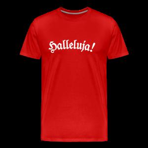 Halleluja T-Shirt (Herren Rot) - Männer Premium T-Shirt