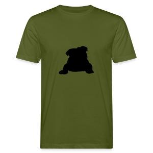 Englische Bulldogge liegend - Männer Bio-T-Shirt