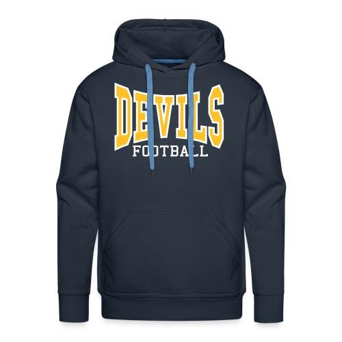 Devils Football Navy Hoodie - Men's Premium Hoodie