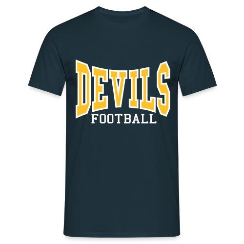 Devils Football Navy T-Shirt - Men's T-Shirt