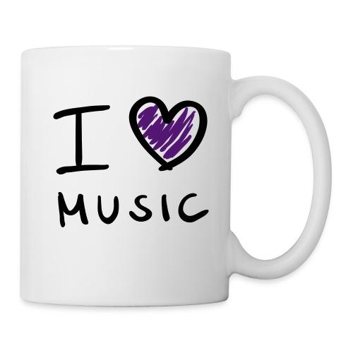 Tasse i love music - Mug blanc