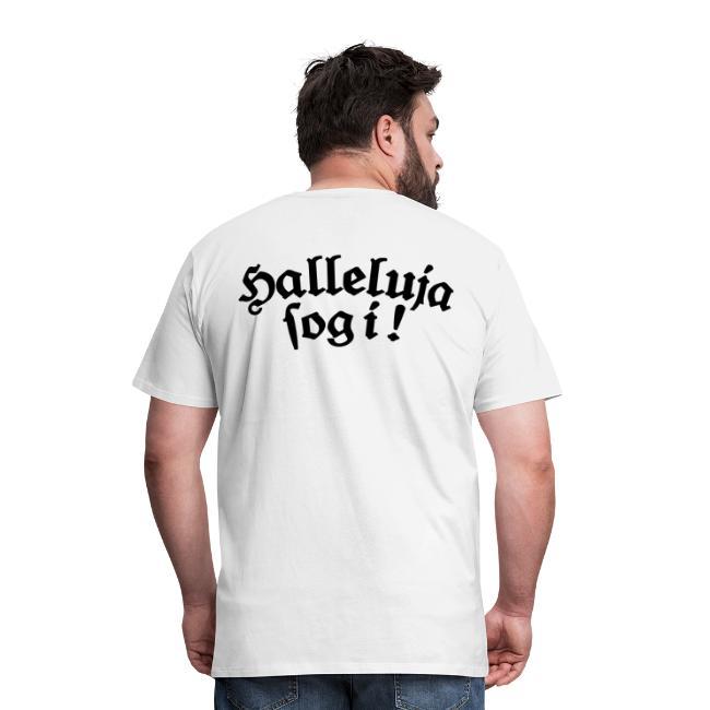 Halleluja sog i T-Shirt (Herren Weiß) Rücken