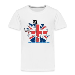 Pirateship uk united kingdom flag - Kinder Premium T-Shirt