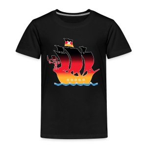 Pirateship germany flag - Kinder Premium T-Shirt
