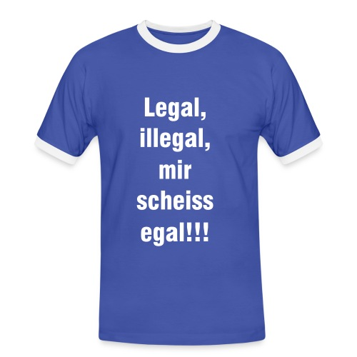 Legal - Männer Kontrast-T-Shirt