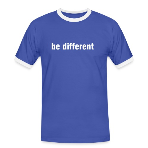 be different - Männer Kontrast-T-Shirt