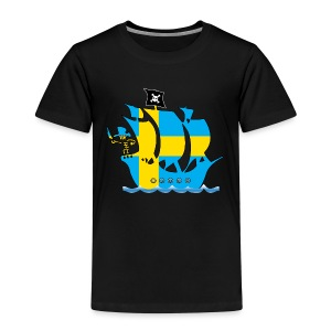 Pirateship sweden flag - Kinder Premium T-Shirt