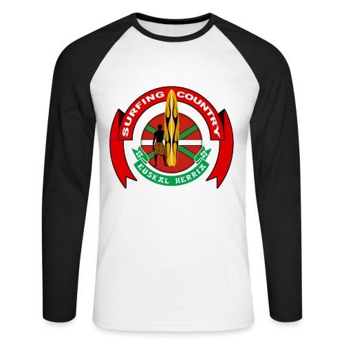 Basque surfing country - Men's Long Sleeve Baseball T-Shirt