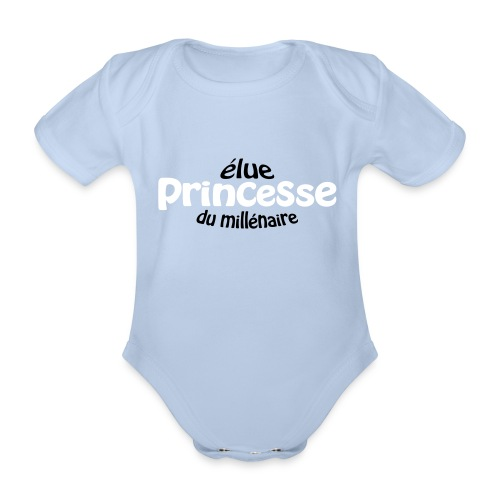 Elue Princesse - Body bébé bio manches courtes