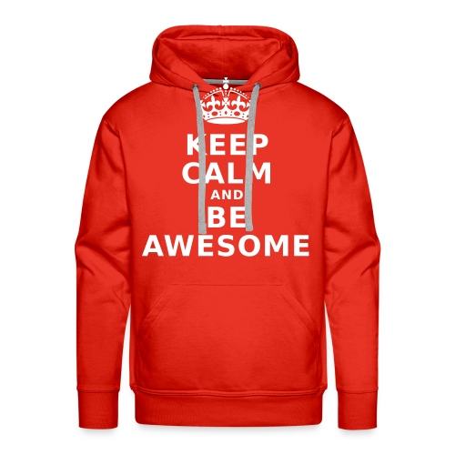 Be Awesome#Men white - Männer Premium Hoodie
