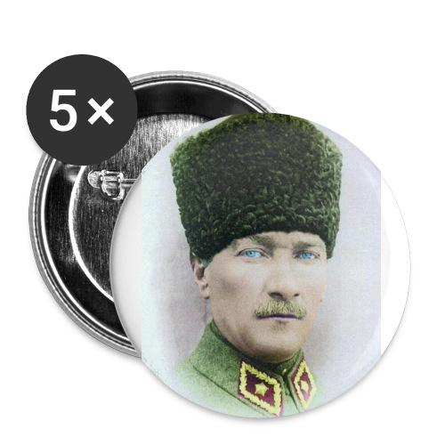 Atatürk Buttons - Buttons klein 25 mm (5-pack)