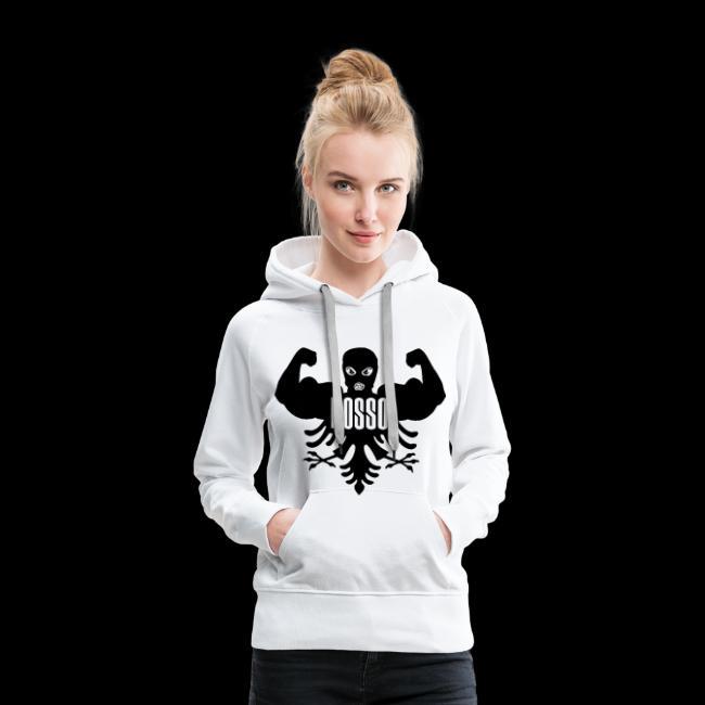 Dames Sweater met Capuchon (Zwarte Logo)