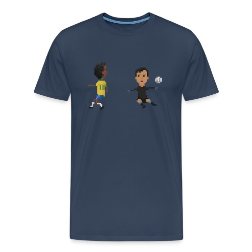 Men T-Shirt - Brazilian dribble 1970 - Men's Premium T-Shirt