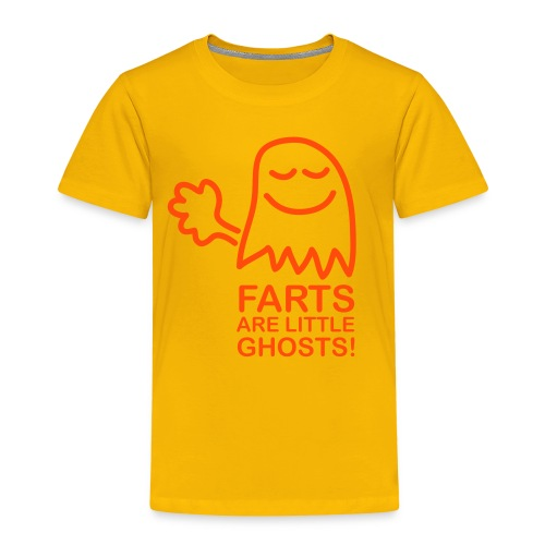 Farts are little ghosts...(with text) - Kids' Premium T-Shirt
