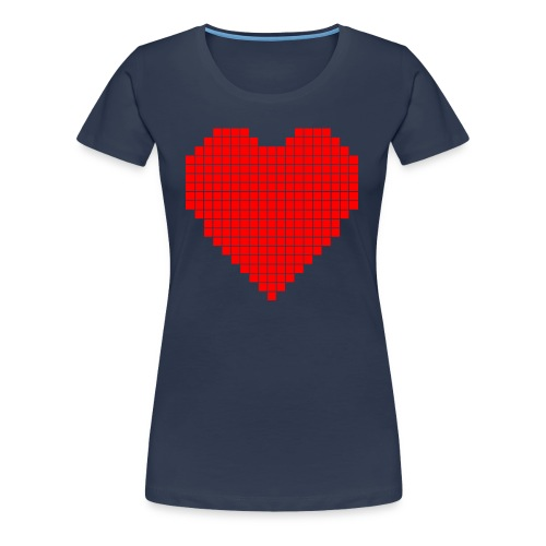 Pixel Heart T - Women's Premium T-Shirt