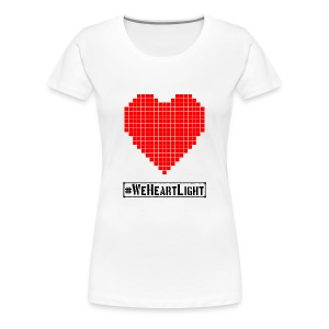 #WeHeartLight - Women's Premium T-Shirt