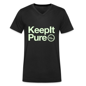 Keep It Pure Glow In The Dark [Male] - Men's V-Neck T-Shirt
