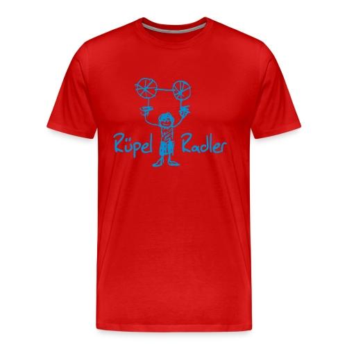 Rüpel-Radler blau - Männer Premium T-Shirt